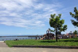 ホテル前の癒し空間★築港臨海公園