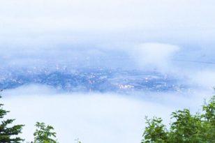幻想的な小樽の雲海