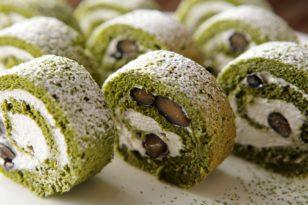 スイーツブッフェのおすすめ★抹茶のロールケーキ