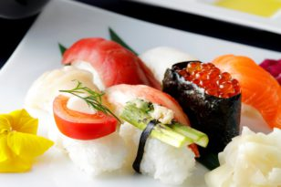 人気の寿司8貫付きディナーコース