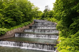 奥沢水源地水管橋一般開放中