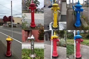 小樽市内のカラフル消火栓