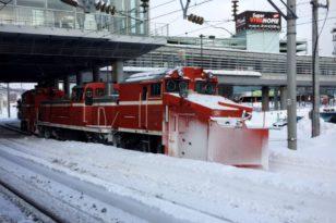 雪国ならでは★鉄道用除雪車