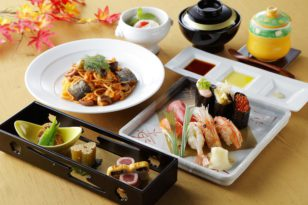 旬のネタを使ったお寿司が楽しめるコース