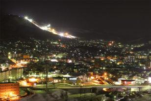高層階山側客室からの美しい夜景