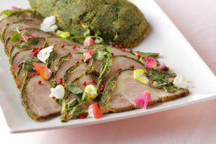 新緑の季節をイメージしたお料理です!