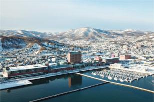 空からグランドパーク小樽を見てみよう★冬