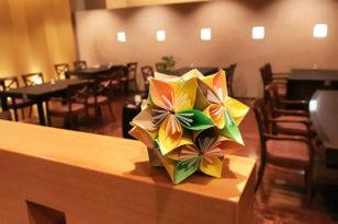 折り紙で作ったおもてなしのくす玉作り