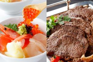 ステーキ&ミニ海鮮丼が復活★ディナーブッフェ