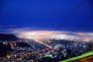 雲海+夜景のスーパーショット♪