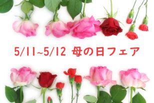 5/11&5/12★毎年恒例・母の日フェア開催!