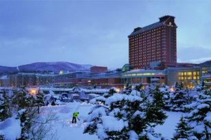 ホテルから一番近い雪あかりの路会場